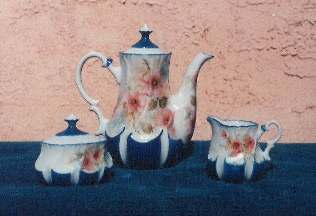Tea Set Painted by Adrienne Colvin