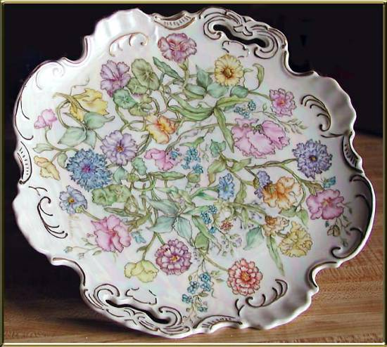 Hand Painted Plate by Ruby Gayle Jackson